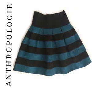 Anthropologie | Striped Blue Black Skirt | Size: S